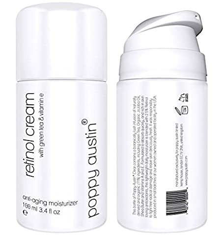 Best Retinol Cream for Day & Night by Poppy Austin® - TRIPLED SIZED 100 ml Bottle - 2.5% Retinol, Vitamin E, Green Tea & Shea Butter - Exquisite, Anti Ageing Face Moisturiser & 2017 Best Wrinkle