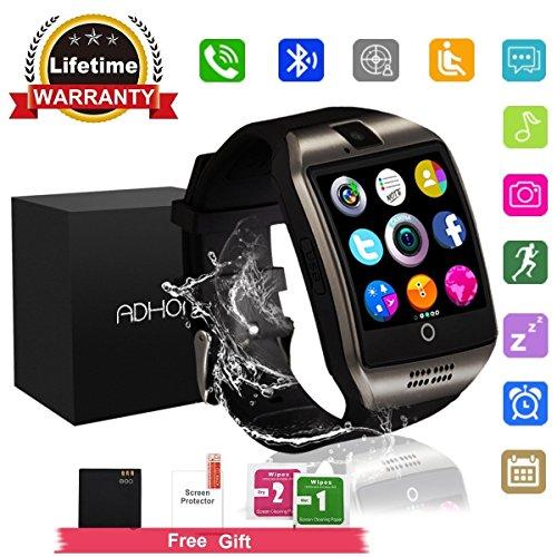 Reloj Inteligente, Smartwatch con SIM/TF Ranura Cámara Reproductor de música Fitness Tracker Facebook WhatsApp Pantalla Táctil Smart Watch Bluetooth Compatible iPhone Samsung Android o iOS Reloj de pulsera para Hombre Mujer Niño
