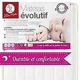 Lilou Miaka Matratze und Schaumstoff 100% Hygiene–70x 140x 12cm