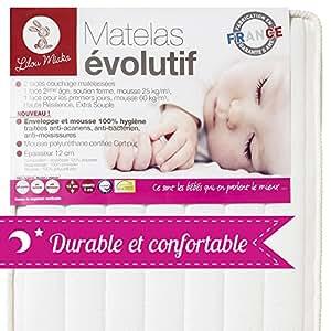 LILOU MIAKA - Matelas bébé Evolutif – pour lit 60 x 120