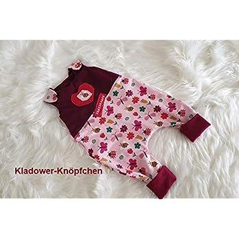 Baby Strampler erhältlich von Gr.44-98 auch mit Knopfleiste und Füßchen