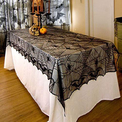 Cozypony® 122x244cm Halloween Tischdecke Spider Fledermaus Polyester Rechteckig Tischdecke für Party Ostern Kamin