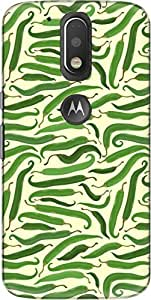 The Racoon Lean printed designer hard back mobile phone case cover for Motorola Moto G Plus 4th Gen. (Green Chil)