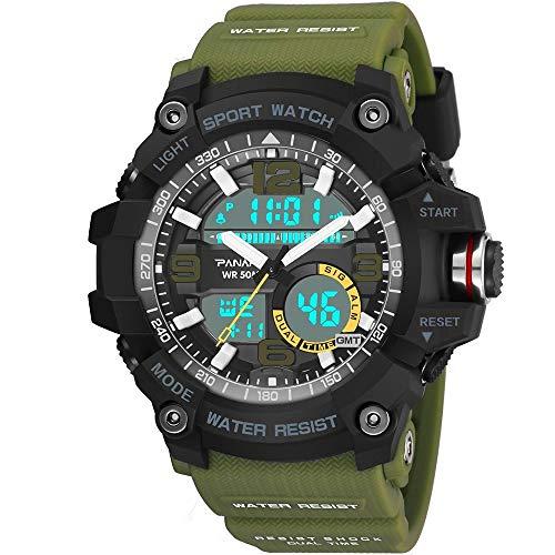 LYZZGZZ-Armbanduhren-Outdoor-Sport-Doppeluhr-Multi-Funktion-mnnlich-elektronische-Uhr