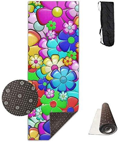 LoveBiuBiu Yoga Mat Non Slip Flower Coloreeful 24 X 71 71 71 Inches Premium Fitness Exercise Pilates Carrying Strap B07KJ3QSHP Parent | Promozioni speciali alla fine dell'anno  | Qualità Eccellente  | diversità  fbfdb2