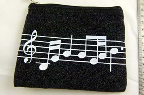 Musik-Themen Zipper Pouch Soft Pouch Musikalische Partitur Blatt Design-