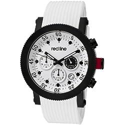 Red Line Herren-Armbanduhr 45mm Armband Silikon Weiß Gehäuse Edelstahl Quarz RL-18101VD-02-BB-WHT-ST