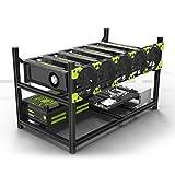 Offenes 6 GPU Mining RIG - Gehäuse aus Aluminium für 6 Grafikkarten