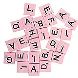100PCS Mehrfarbig Holz Buchstaben Taste DIY Craft Nähen Scrapbooking, holz, rose, Einheitsgröße