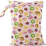 Hotaluyt Riutilizzabile Diaper Bag del Pannolino del Bambino Borsa del Girasole Stampa Passeggino Impermeabile del Pannolino del Contenitore con la Chiusura Lampo