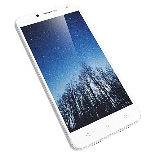 Wieppo Smartphone Libres Baratos 4G, S6 Teléfono móvil Dual SIM con Pantalla DE 5.5 Pulgadas HD 1280 * 720, Doble Cámara 8MP+5MP, 2GB RAM 16GB ROM, Android 7.0, Batería de 3000mAh (Blanco)