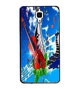 Fuson Premium 2D Back Case Cover Stylish Violin With Multi Background Degined For Xiaomi Redmi Mi4::Xiaomi Mi 4