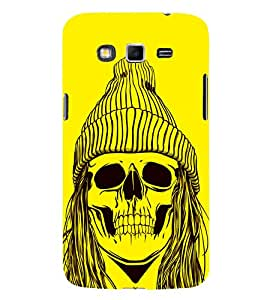 Skull with a Cap 3D Hard Polycarbonate Designer Back Case Cover for Samsung Galaxy Grand 2 :: Samsung Galaxy Grand 2 G7105 :: Samsung Galaxy Grand 2 G7102