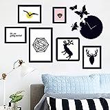 HCCY Puede Quitar y Fijar a la Pared, Negro Road y Elegantes fotografías Creativas Pegatinas para el sofá de tu salón Pintura Mural Decorar 105 * 52cm.