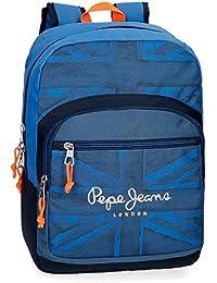 Pepe Jeans Fabio 6092361 Mochila Escolar, 42 cm, 21.42 litros, Azul