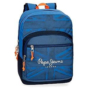 51RAQydLZzL. SS300  - Pepe Jeans Fabio 6092361 Mochila Escolar, 42 cm, 21.42 litros, Azul