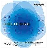 Juego de cuerdas para violín Helicore de D'Addario, escala 4/4, tensión media.