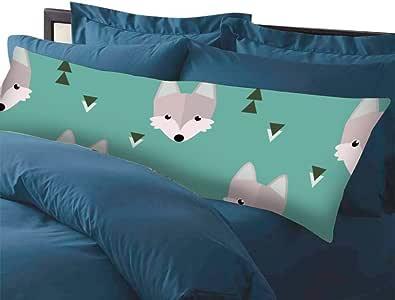 Long Pillow Cases, 3D Frog, Body Pillow