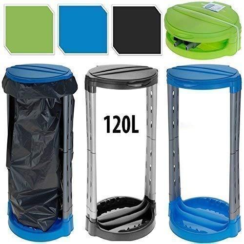 Cestino del pattume da 120 litri per campeggio porta sacchetti della pattumiera - blu