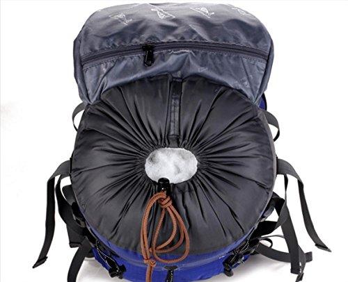 LQABW 50L Große Kapazitäts Männliche Und Weibliche Outdoor-Bergsteigen Tasche Super-Outdoor-Camping-Sportpaket Nylon Wasserdicht Green