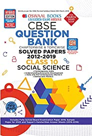Oswaal CBSE Question Bank Class 10 Social Science Book Chapterwise & Topicwise Includes Objective Types &a