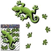 Etiqueta engomada animal del gecko del verde para las caravanas de los carros del coche - ST00031GR_SML - JAS Stickers
