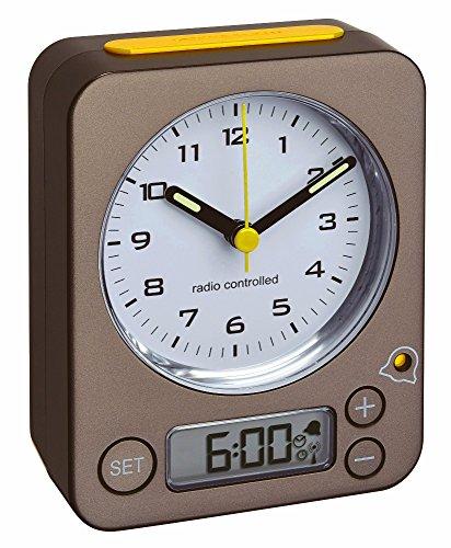 TFA-Dostmann Funk-Wecker COMBO TFA 60.1511 verschiedene Farben Reisewecker Analogwecker (60.1511.10.07 anthrazit-gelb)