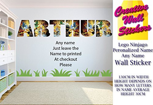 Superb Lego Ninjago Wall Sticker Childrens Bedroom Any Name Sticker Decals Mural Download Free Architecture Designs Scobabritishbridgeorg