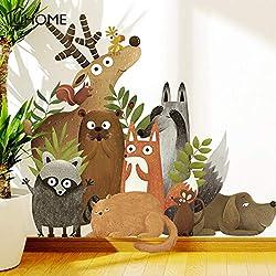 Animaux De La Forêt Elk Fox Lapin Stickers Muraux Pour Chambre D'Enfants Sticker Chambre D'Enfant Chambre De Bébé Décor Affiche Mur D'Art