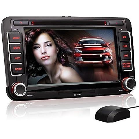 XOMAX XM-VW-04 radio de coche Volkswagen / SKODA / SEAT/ Moniceiver reproductor multimedia / naviceiver con GPS + NAVIGATION software incluye mapas de Europa + Bluetooth manos libres + 7