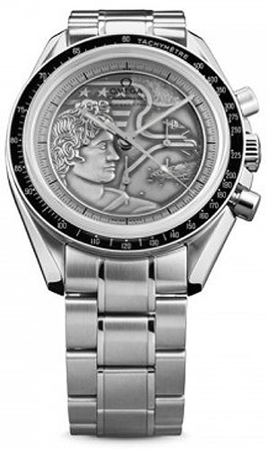 Omega Speedmaster Apollo XVII Silver Embossed Dial Stainless Steel Mens Watch 311.30.42.30.99.002 by Omega