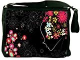 "Snoogg Flower Girl Padded Compartment Carrying Case Sleeve Laptop Notebook Shoulder Messenger Bag For All 15 - 15.6"" Inch Laptops"