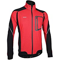 iCreat Mens Cycling Jacket Windproof Breathable Lightweight High Visibility Warm Thermal Long Sleeve Jacket MTB Mountain Bike Jacket