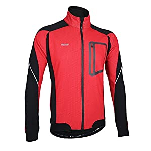 51RAWOtAgeL. SS300 iCreat – Giacca antivento impermeabile, giacca da corsa, da bicicletta Mountain Bike, giacca riflettente, in pile caldo…