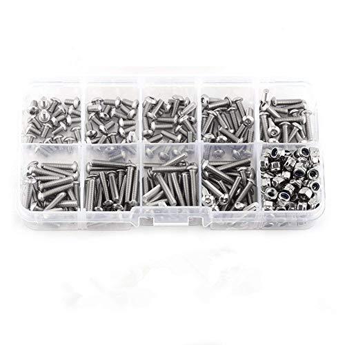 universali 16 copribulloni esagonali da 17 mm con 4 Pezzi di bloccaggio Colore Nero con Strumento di rimozione Uteruik