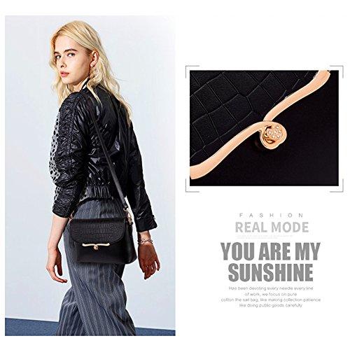 Borsa a tracolla elegante Yoome Sacchi a spalla modello a coccodrillo per donne Oro