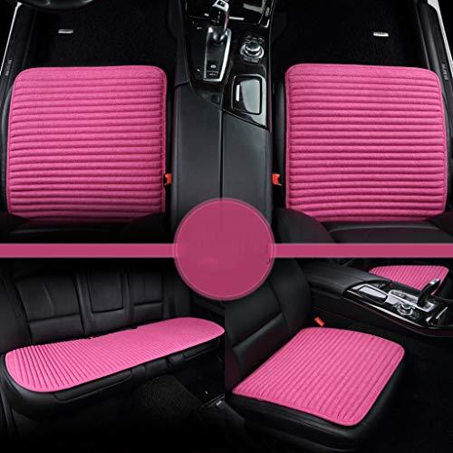 TFT Atmungsaktives Auto-Innenbezug-Sitzkissen, dreiteiliges Autositz-Kissen, Buchweizen-Gesundheits-Sitzkissen Sitzkissen (Farbe : Pink)