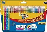 BIC Kids 921360 Fasermaler Kid Couleur Medium (24-farbig sortiert, Kartonetui) 24 Stück
