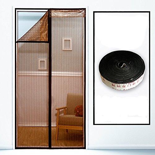 DULPLAY Anti-Moskito Magnet fliegengitter Tür,Sommer mit Frame Velcro Anti-Fehler Insekt Belüftung Freier Stempel der magnetvorhang -A 90x240cm(35x94inch)