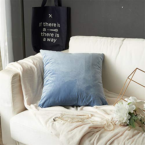 JUNDY Kissenhülle Dekokissen Throw Pillow Covers Für Autos Sofakissen Startseite Dekorative Sofa Bett Home Decor Samt einfarbig einfache Kissen colour18 45 * 45cm (Kissenbezug)