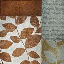 Hoja de letra I por, de papel de lija Kristin–Fine Art Print disponible sobre lienzo y papel, lona, SMALL (12 x 12 Inches )