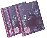 Selbstklebend Foto Alben mit total 60Blatt/120Seiten, von Arpan, Hartpappe, Purple Vintage Bird, 25 x 29 cm