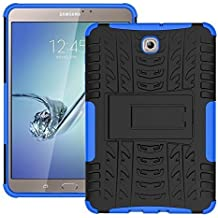 DWay Tablet Carcasa Tab S2 8.0 T710 Armor Design con Stand Feature Detachable Dual Layer Protective Shell Tablet Hard Espalda Funda Carcasa para Samsung Galaxy Tab S2 8.0inches SM-T710 / T715 (Blue)