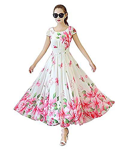 Ecolors Fab Women\'s Dress (Chini_Dolll_White_Small)