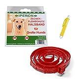 Lyra Pet Iperon Bio Flohhalsband Hund 75 cm für Grosse Hunde Schutz+ Zeckenzange