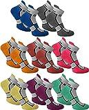 8 Paar Sneaker Running Laufsocken Funktionssocken mit Frotteesohle und Stützfunktion