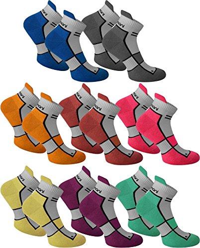 8 Paar Sneaker Running Laufsocken Funktionssocken mit Frotteesohle und Stützfunktion Farbe Excalibur Größe 39/42