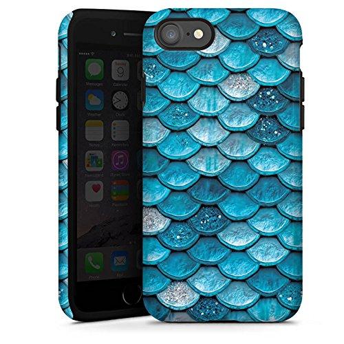 Apple iPhone 6 Plus Silikon Hülle Case Schutzhülle Mermaid Meerjungfrau Schuppen Tough Case glänzend