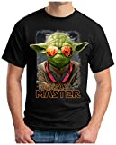OM3 Yoda-Deejay - T-Shirt Music Stormtrooper House Hiphop Indie Trance Rave, M, Schwarz