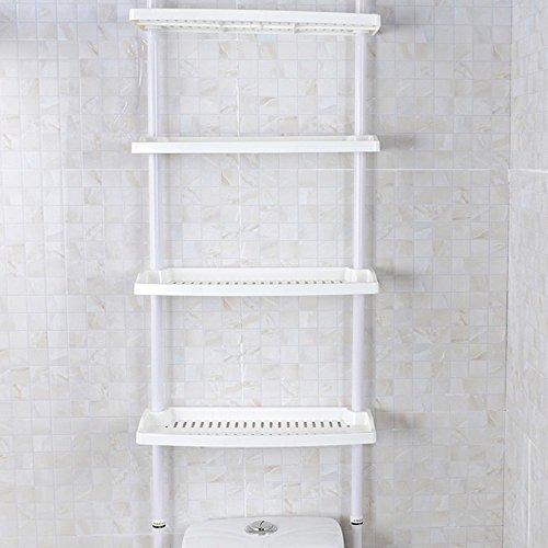 sell-ideas f2-e9pz-uom1feibrand 4Etagen Küche Badezimmer Aufbewahrung Dusche Caddy Ablagen höhenverstellbar kein Schrauben notwendig, weiß